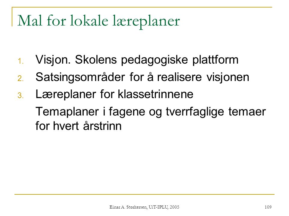 Mal for lokale læreplaner