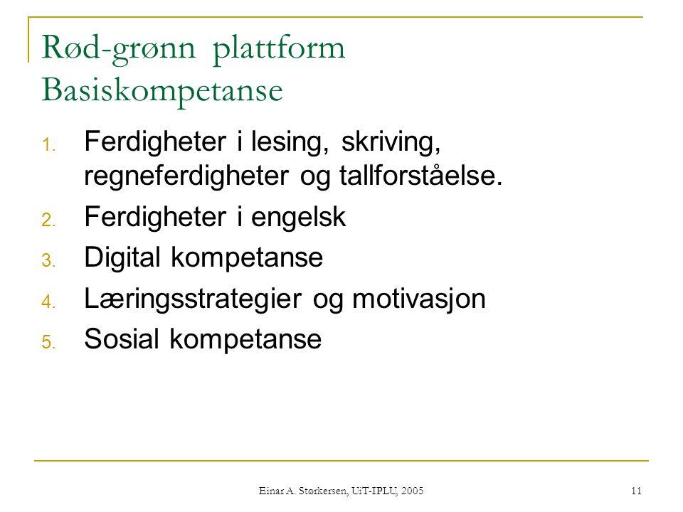 Rød-grønn plattform Basiskompetanse