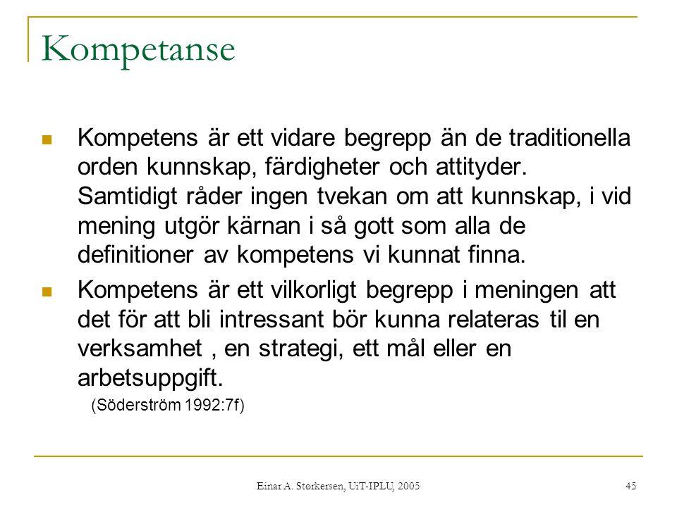 Einar A. Størkersen, UiT-IPLU, 2005