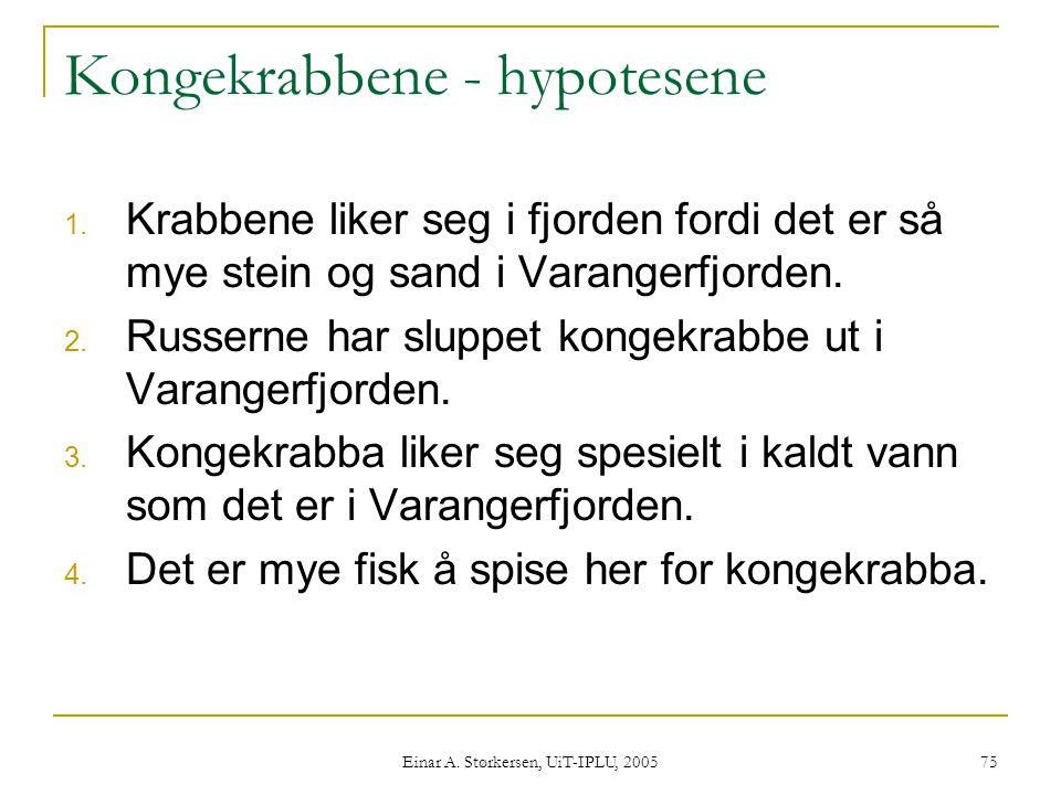 Kongekrabbene - hypotesene
