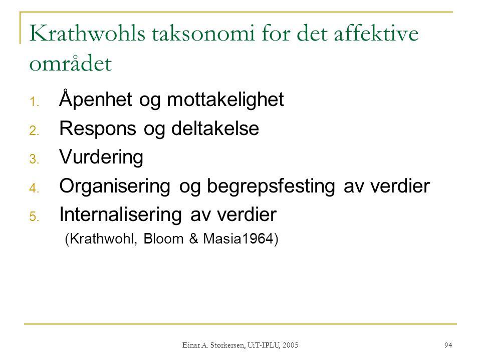 Krathwohls taksonomi for det affektive området