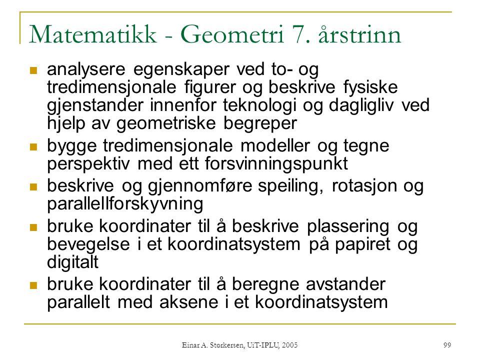 Matematikk - Geometri 7. årstrinn
