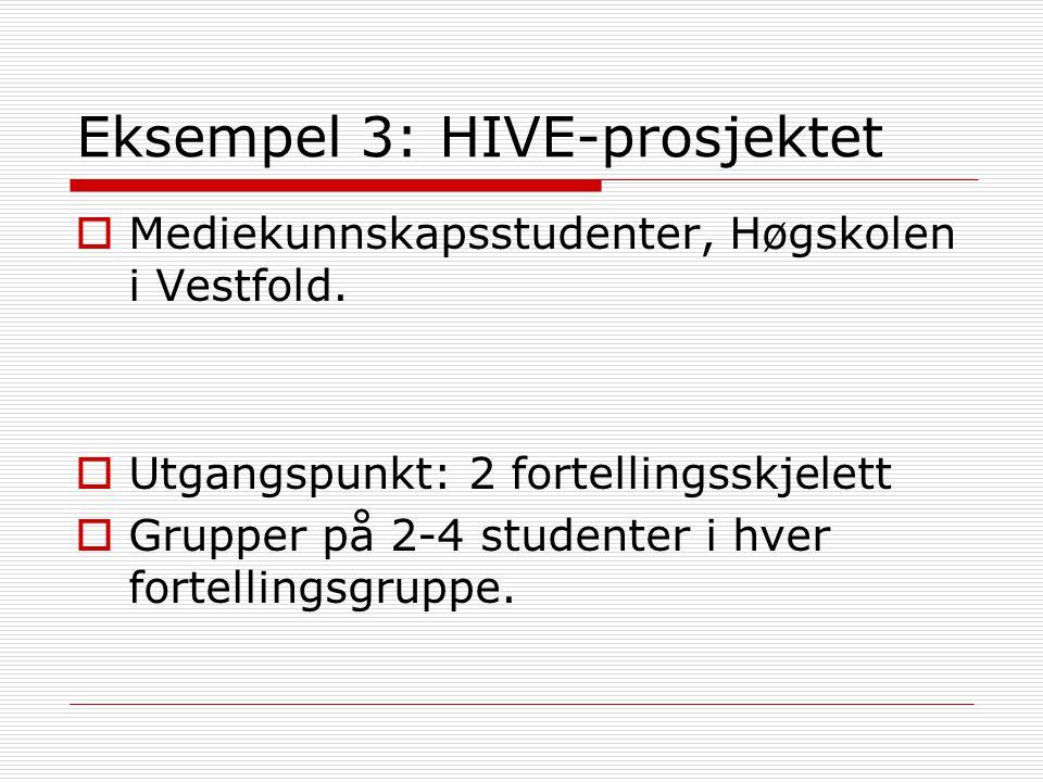 Eksempel 3: HIVE-prosjektet