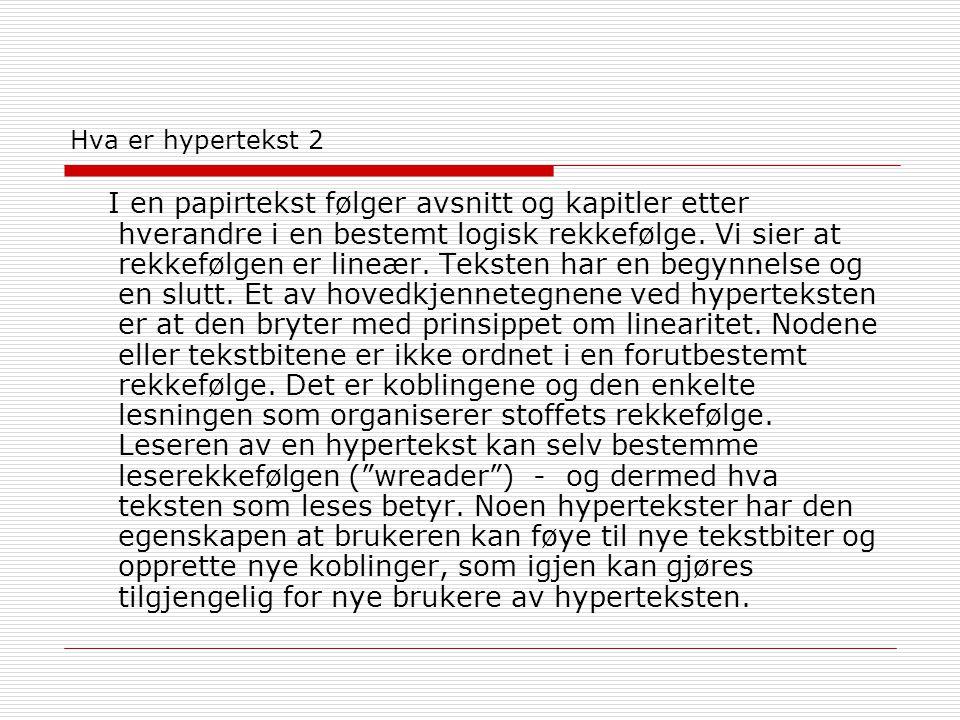 Hva er hypertekst 2