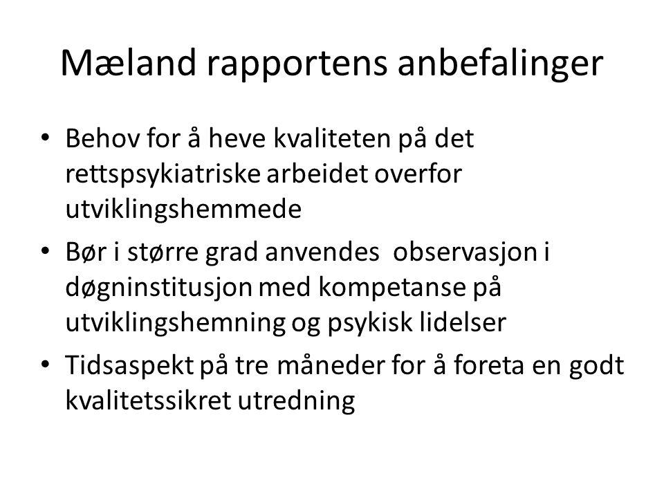 Mæland rapportens anbefalinger