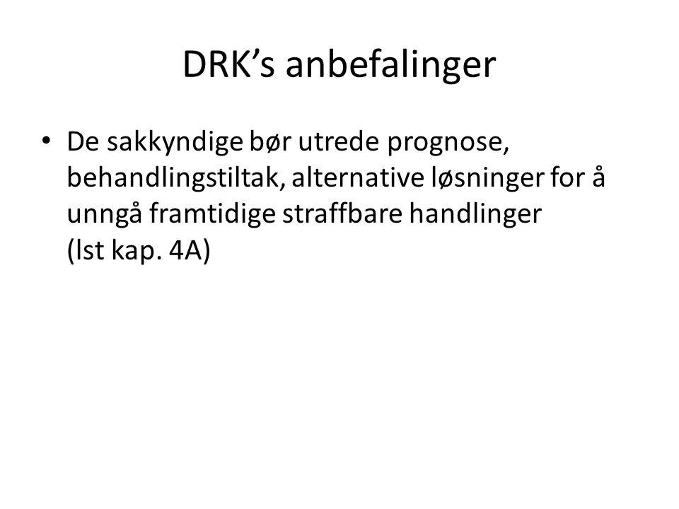 DRK's anbefalinger