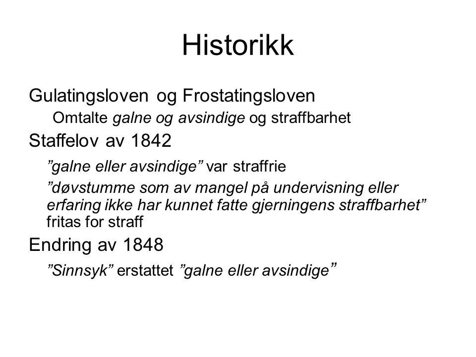 Historikk Gulatingsloven og Frostatingsloven Staffelov av 1842