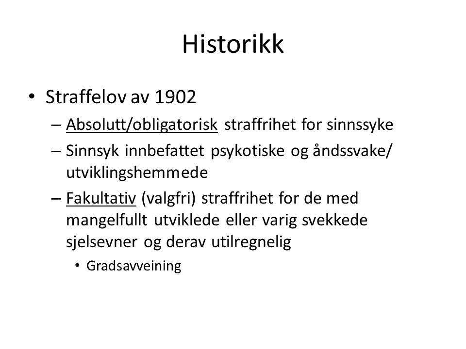 Historikk Straffelov av 1902