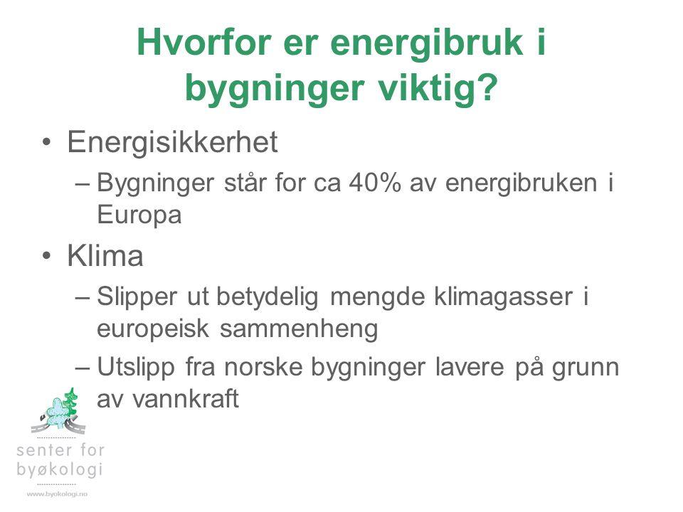 Hvorfor er energibruk i bygninger viktig