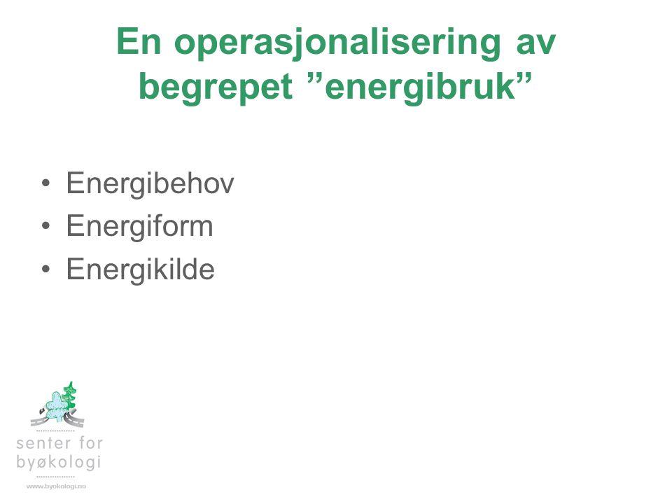 En operasjonalisering av begrepet energibruk