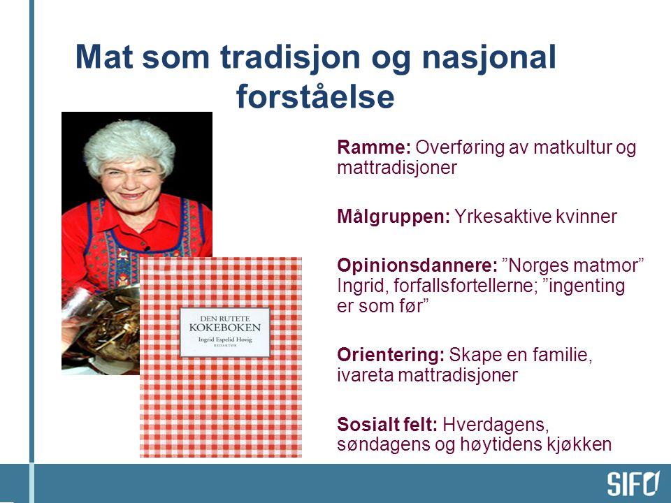 Mat som tradisjon og nasjonal forståelse
