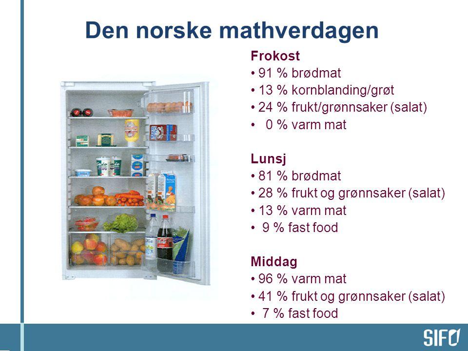 Den norske mathverdagen