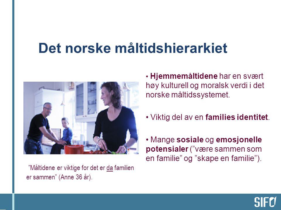 Det norske måltidshierarkiet