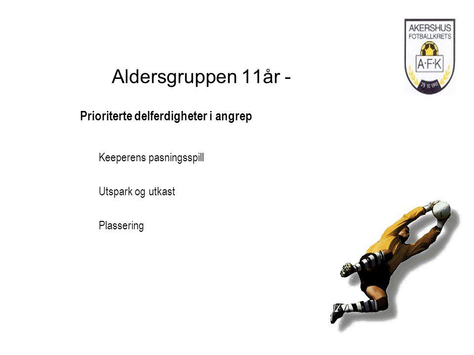 Aldersgruppen 11år - Prioriterte delferdigheter i angrep