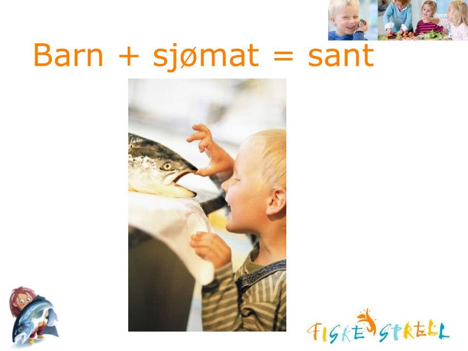 Barn + sjømat = sant