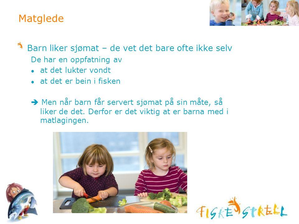 Matglede Barn liker sjømat – de vet det bare ofte ikke selv