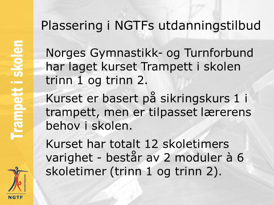 Plassering i NGTFs utdanningstilbud