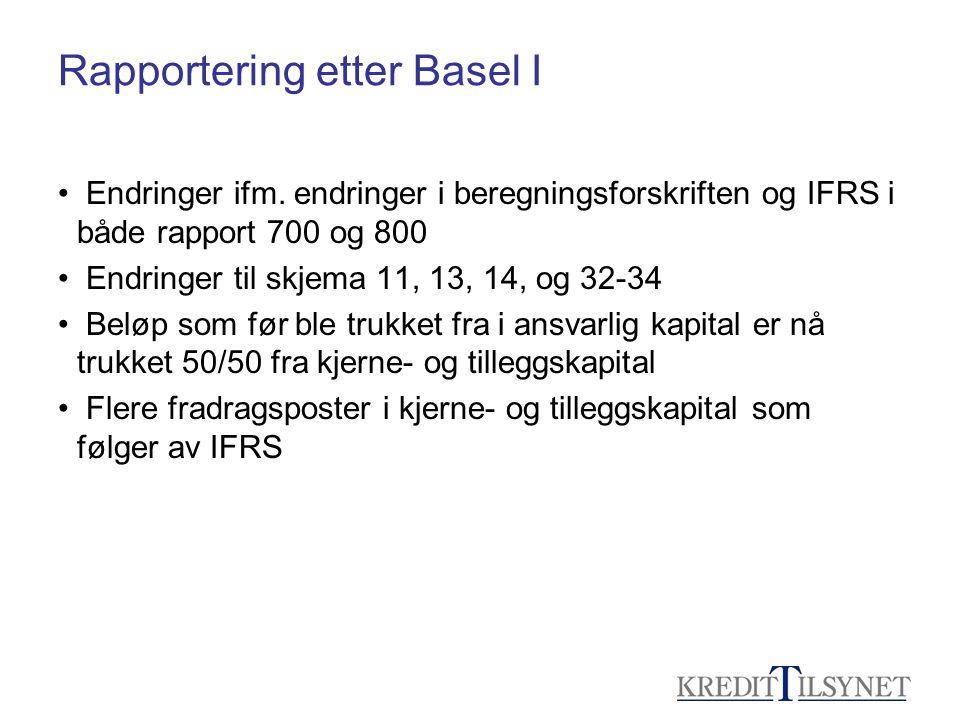 Rapportering etter Basel I