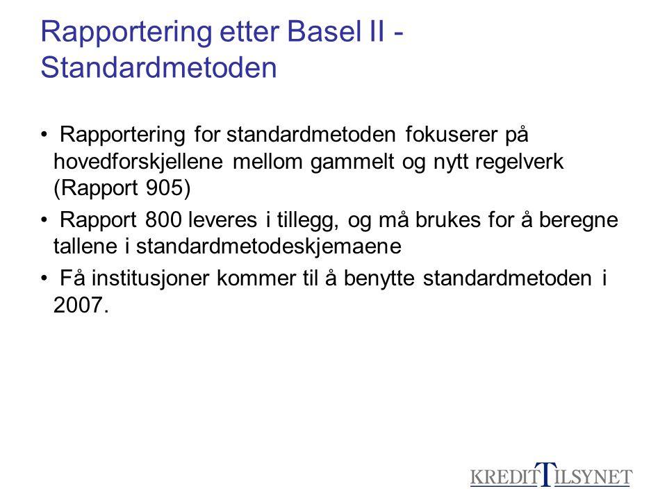 Rapportering etter Basel II - Standardmetoden