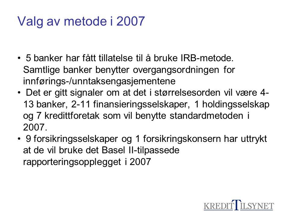 Valg av metode i 2007