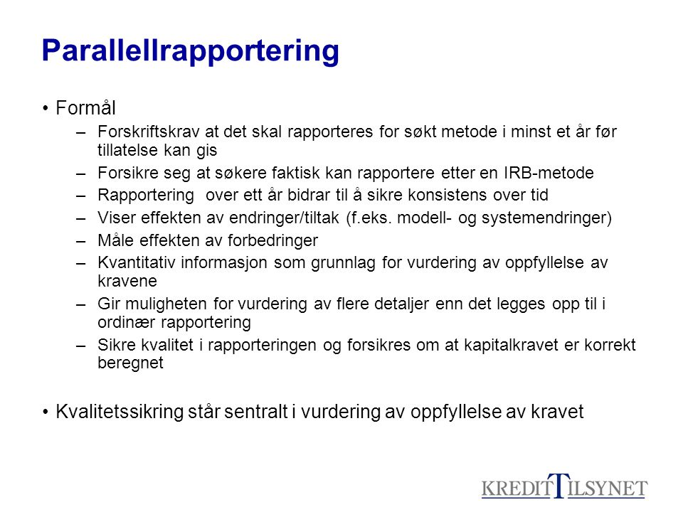 Parallellrapportering