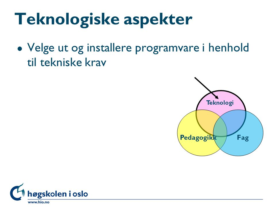 Teknologiske aspekter