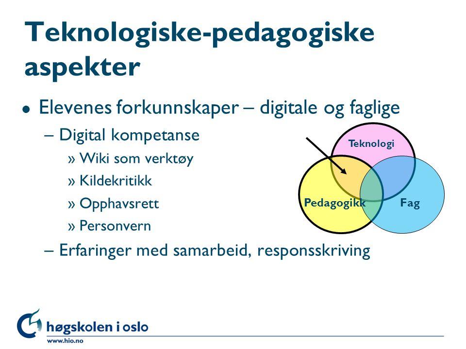 Teknologiske-pedagogiske aspekter