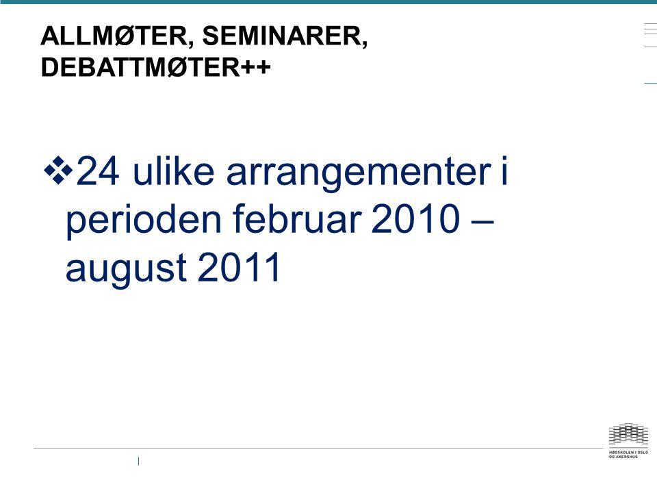 ALLMØTER, SEMINARER, DEBATTMØTER++