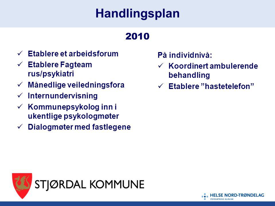 Handlingsplan 2010 Etablere et arbeidsforum På individnivå: