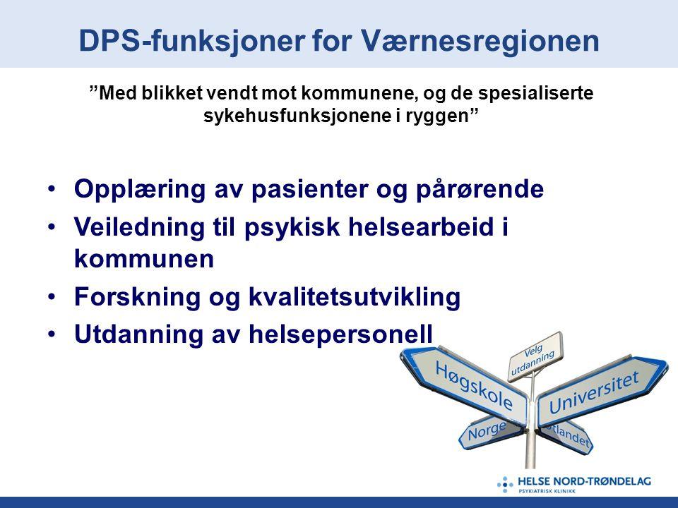 DPS-funksjoner for Værnesregionen