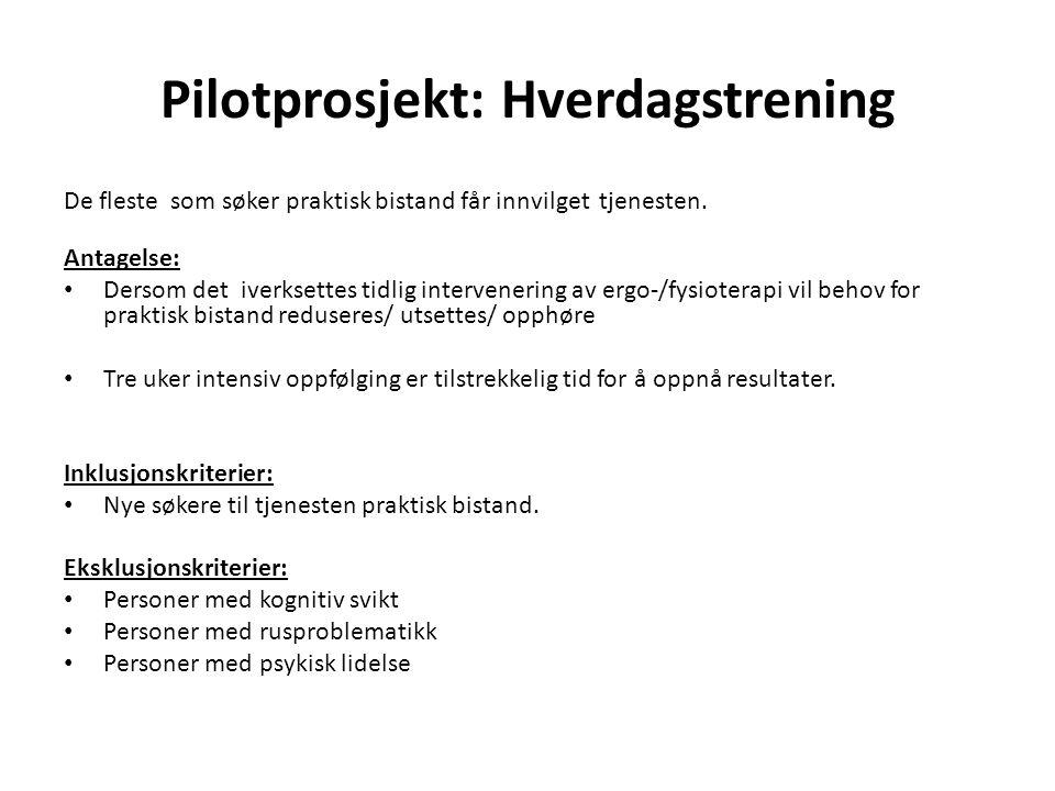 Pilotprosjekt: Hverdagstrening