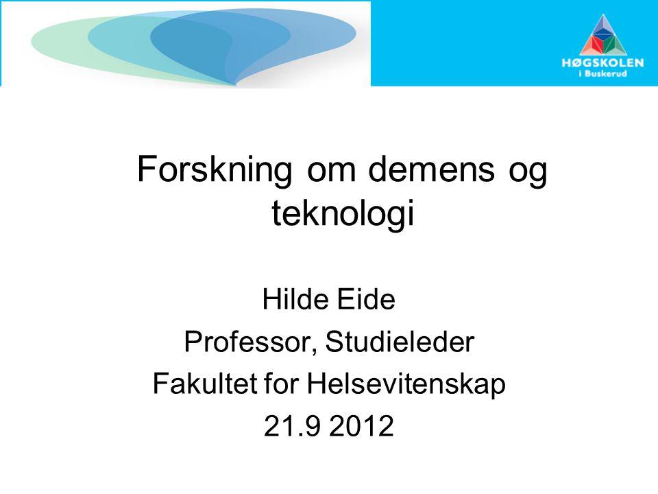Forskning om demens og teknologi