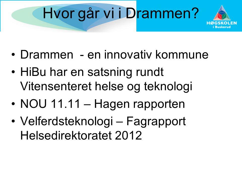 Hvor går vi i Drammen Drammen - en innovativ kommune