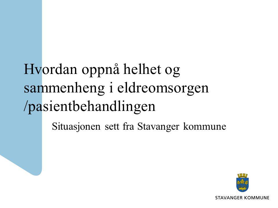 Situasjonen sett fra Stavanger kommune