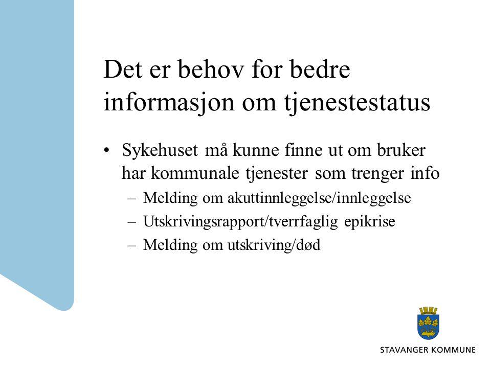 Det er behov for bedre informasjon om tjenestestatus