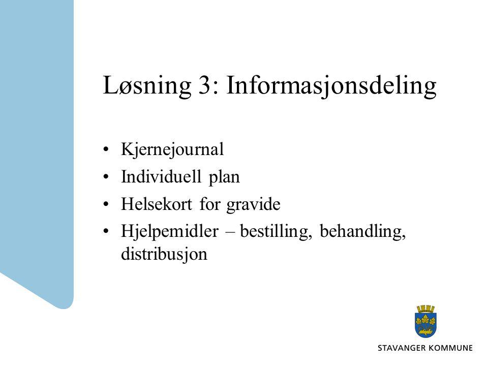 Løsning 3: Informasjonsdeling