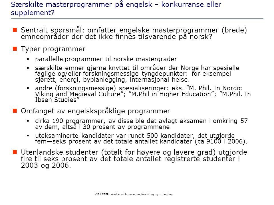 Særskilte masterprogrammer på engelsk – konkurranse eller supplement