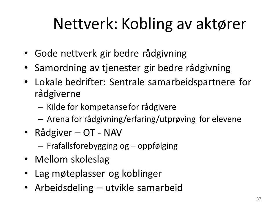 Nettverk: Kobling av aktører