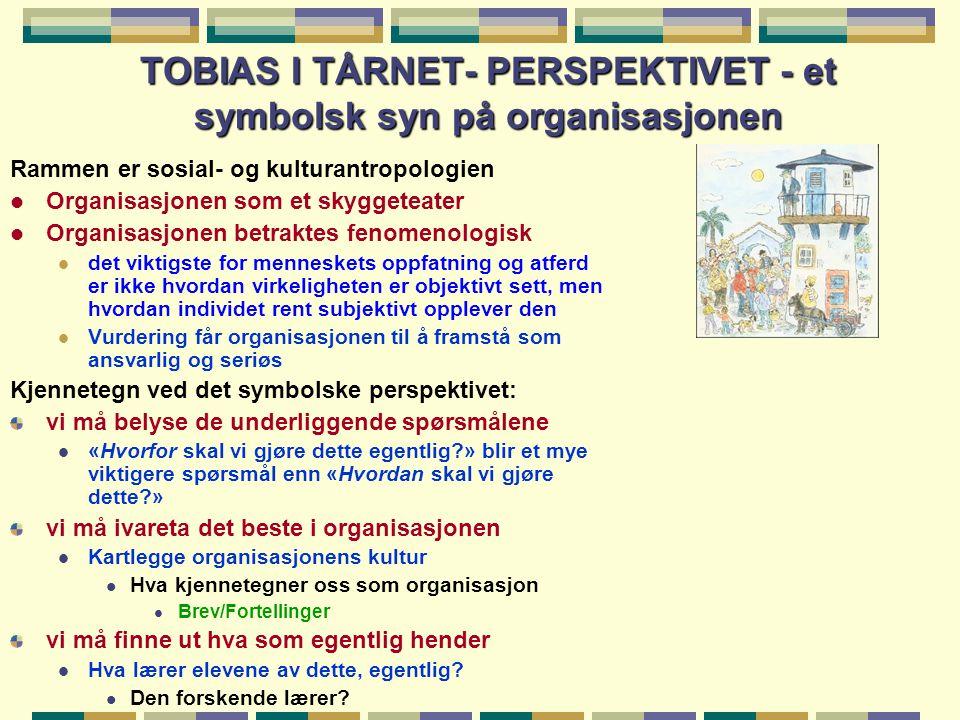 TOBIAS I TÅRNET- PERSPEKTIVET - et symbolsk syn på organisasjonen
