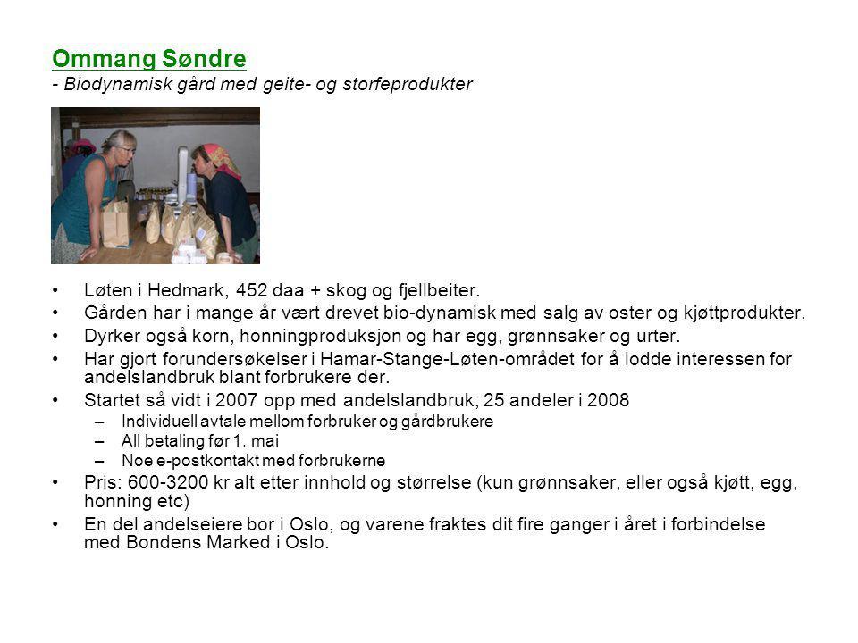 Ommang Søndre - Biodynamisk gård med geite- og storfeprodukter