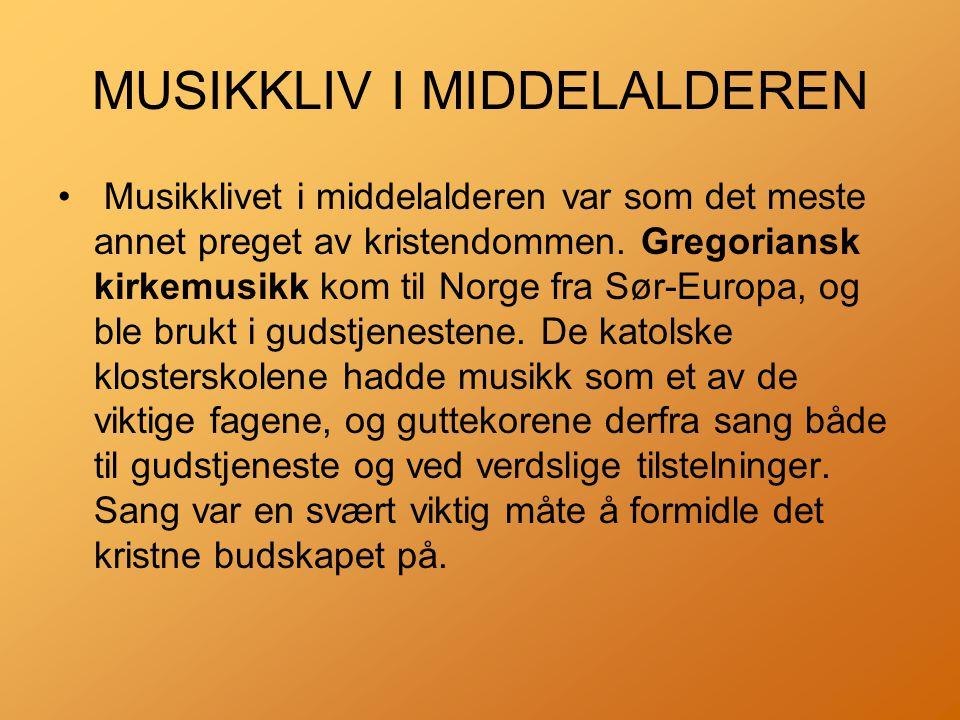 MUSIKKLIV I MIDDELALDEREN