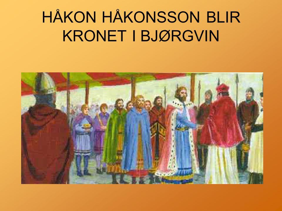 HÅKON HÅKONSSON BLIR KRONET I BJØRGVIN