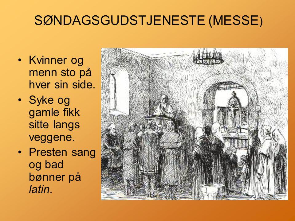 SØNDAGSGUDSTJENESTE (MESSE)