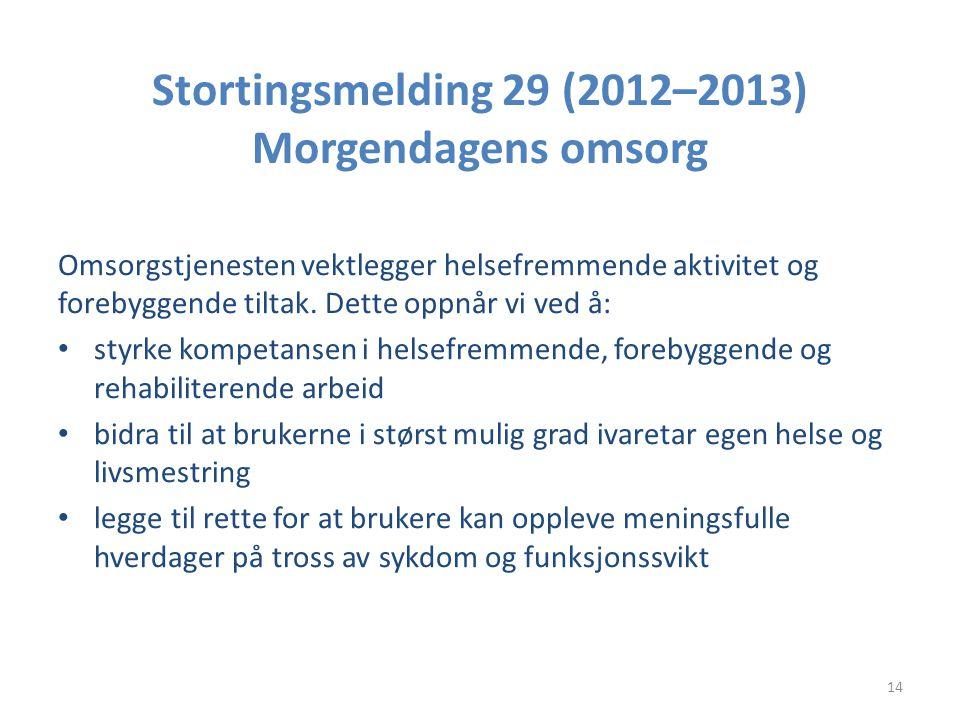 Stortingsmelding 29 (2012–2013) Morgendagens omsorg