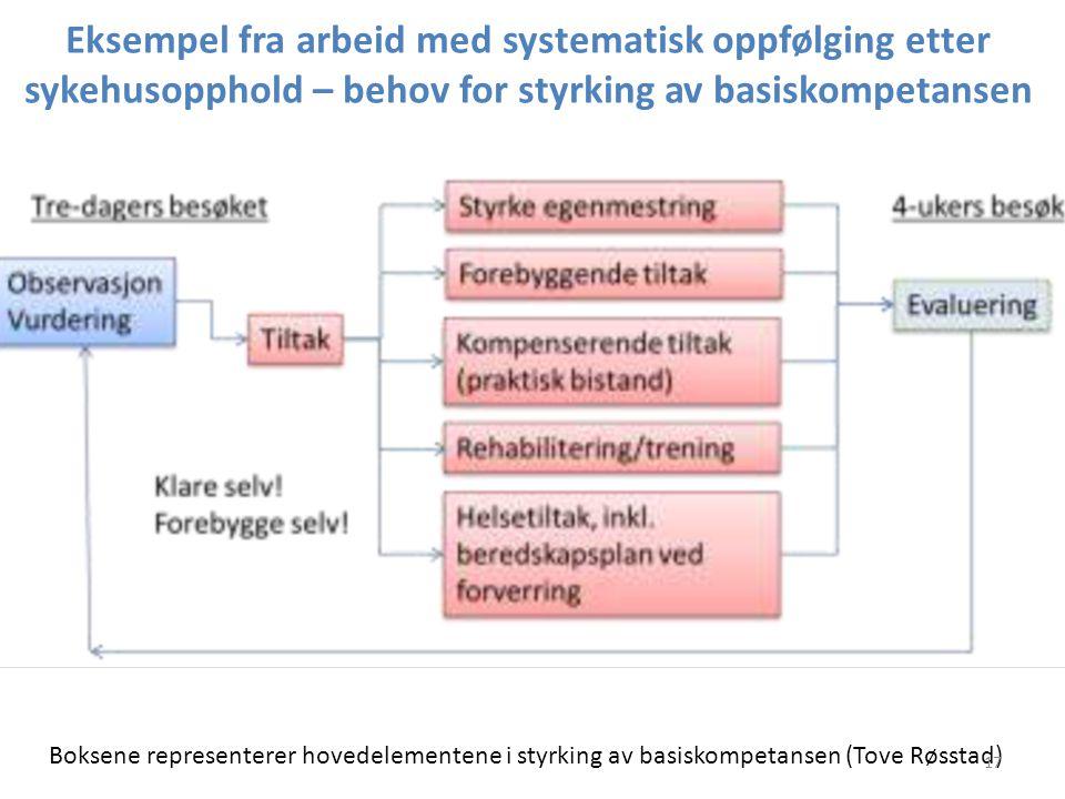 Eksempel fra arbeid med systematisk oppfølging etter sykehusopphold – behov for styrking av basiskompetansen