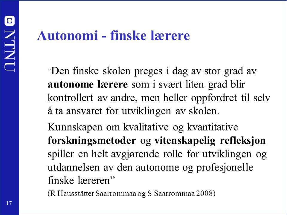 Autonomi - finske lærere