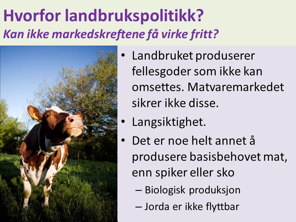 Hvorfor landbrukspolitikk Kan ikke markedskreftene få virke fritt