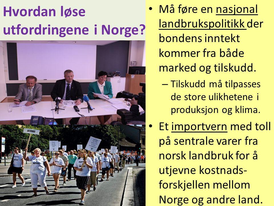 Hvordan løse utfordringene i Norge