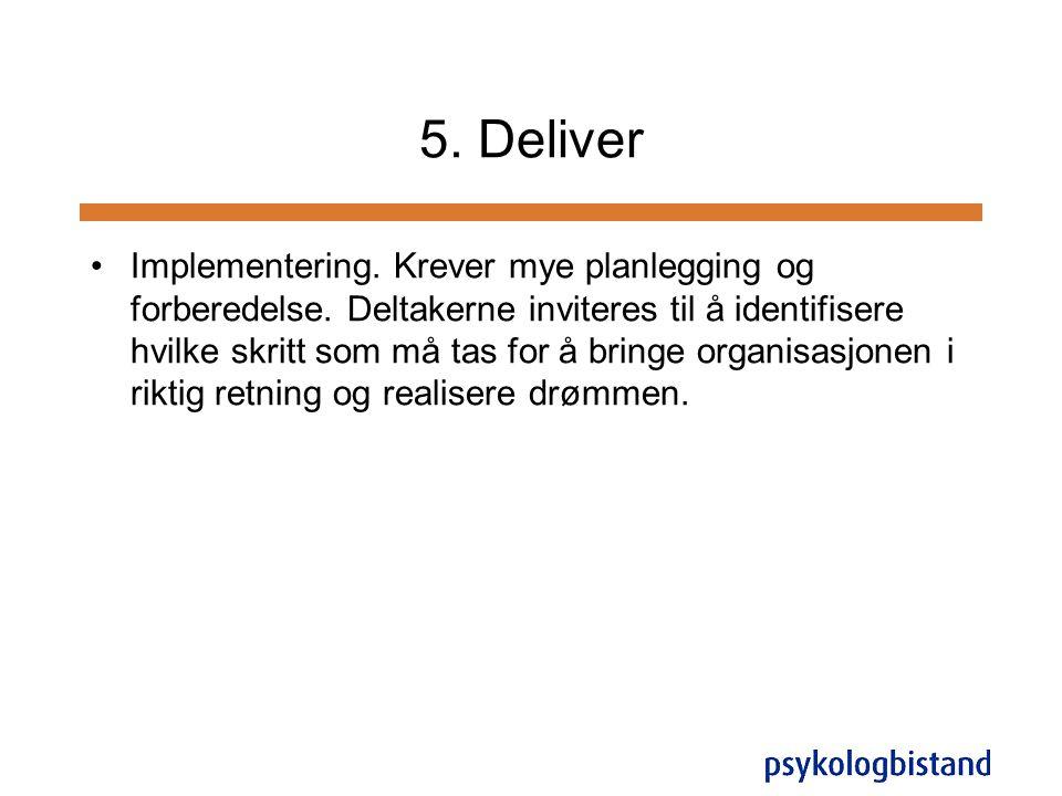 5. Deliver