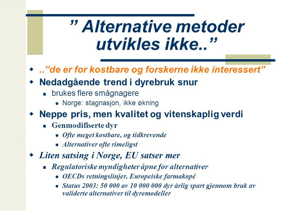 Alternative metoder utvikles ikke..